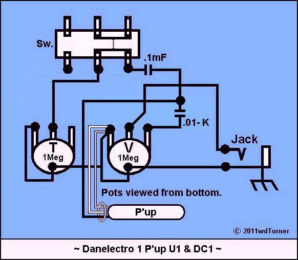 danoguitarschematics1 Danelectro Longhorn Wiring Harness (uf = mf = microfarad) danelectro longhorn bass wiring diagram